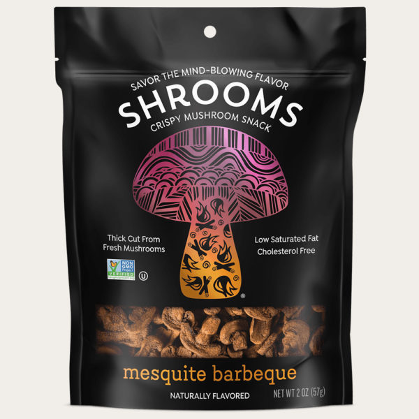 Shrooms Vegan Mushroom Crisps | 2.0 oz Bag | Made with Fresh Mushrooms From our Farm | Low Sugar | Good Source of Plant Protein & Dietary Fiber | Rich in Antioxidants | Verified Non – GMO | Kosher